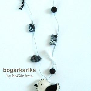 Madaras nyaklánc - fekete-fehér (boGarkrea) - Meska.hu