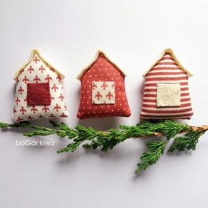 Három házak - karácsonyi dísz, függeszthető dekoráció (boGarkrea) - Meska.hu