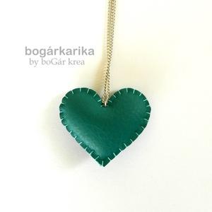 Türkiz szív nyaklánc (boGarkrea) - Meska.hu