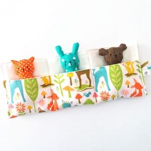 Barátok batyuban II. - maci, cica, nyuszi , Játék & Gyerek, Cica, Plüssállat & Játékfigura, Aprócska figurák - cica, maci és nyuszi - egy összegombolható tartóban, ami könnyen befér a táskába,..., Meska