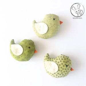 Kismadarak - zöld szett - 3 darab függeszthető dísz, dekor madár, lakásdísz (boGarkrea) - Meska.hu