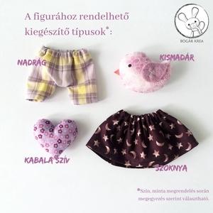 Alvó nyuszi, aranyszívű - textil figura, játék állat, puha baba, designer fejlesztő játék - Meska.hu