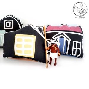 Házikók, kis falu - 5 db puha figura, játék és dekoráció - Meska.hu