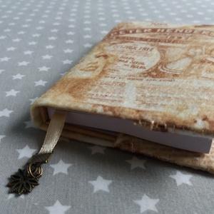 Notesz, mintás filc borítással - vintage - otthon & lakás - papír írószer - jegyzetfüzet & napló - Meska.hu