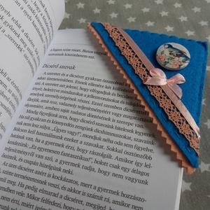 Könyvjelző sarkocska vidám színekben - tavaszi madárka - otthon & lakás - papír írószer - könyvjelző - Meska.hu