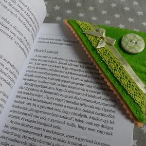 Könyvjelző sarkocska vidám színekben - zöld harmónia - Meska.hu