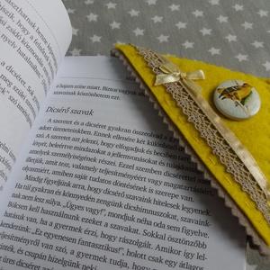 Könyvjelző sarkocska vidám színekben - sárga madárka - otthon & lakás - papír írószer - könyvjelző - Meska.hu