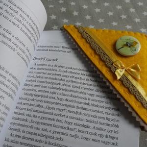 Könyvjelző sarkocska vidám színekben - madár naplementében - otthon & lakás - papír írószer - könyvjelző - Meska.hu