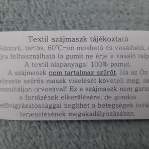 Női textil arcmaszk - rózsaszín, nagy pöttyös - Meska.hu