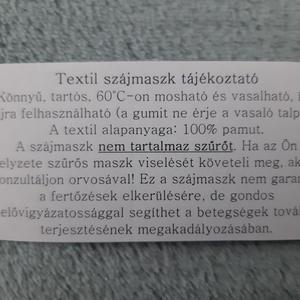 Drótos textil arcmaszk férfiaknak - fekete - Meska.hu