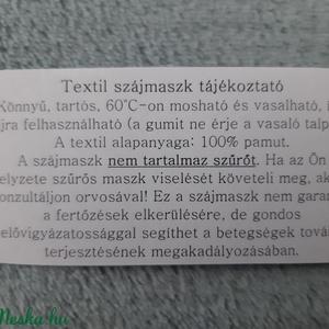 Férfi textil arcmaszk - barna, csillagos - Meska.hu