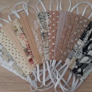 Drótos textil arcmaszk hölgyeknek - bézs, mandalás - maszk, arcmaszk - női - Meska.hu
