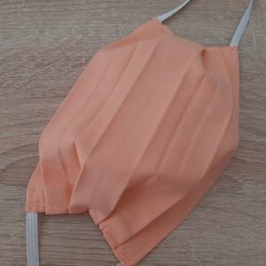 Női textil arcmaszk - élénk barackszín - Meska.hu