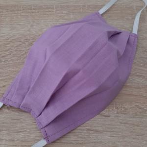 Női textil arcmaszk - rózsaszínes lila árnyalat - Meska.hu