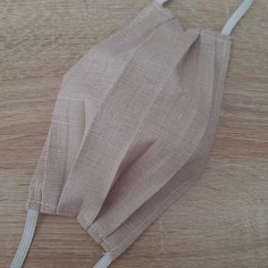 Drótos textil arcmaszk férfiaknak - bézs, cirmos, Férfi & Uniszex, Maszk, Arcmaszk, Varrás, Az ár 1 db maszkra vonatkozik!\n\nTextil maszk férfiaknak, az orrnál drótos megoldással, amely így sze..., Meska
