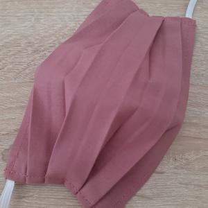 Drótos textil arcmaszk hölgyeknek - sötét pasztellrózsaszín, Maszk, Arcmaszk, Női, Varrás, Az ár 1 db maszkra vonatkozik!\n\nTextil maszk hölgyeknek, az orrnál drótos megoldással, amely így sze..., Meska