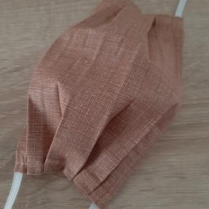 Férfi textil arcmaszk - élénkbarna, cirmos, Maszk, Arcmaszk, Férfi & Uniszex, Az ár 1 db maszkra vonatkozik!  Textil maszk férfiaknak.  Könnyű, kényelmes, mosható, többször felha..., Meska