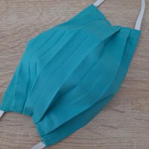Drótos textil arcmaszk hölgyeknek - türkizkék, Maszk, Arcmaszk, Női, Varrás, Az ár 1 db maszkra vonatkozik!\n\nTextil maszk hölgyeknek, az orrnál drótos megoldással, amely így sze..., Meska