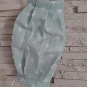Gyermek textil maszk - világos pasztellzöld, csillagos, Maszk, Arcmaszk, Gyerek, Varrás, Meska