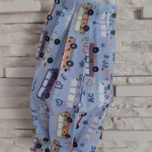 Gyermek textil maszk - kék, hippi buszos - Meska.hu