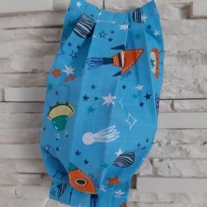 Gyermek textil maszk - kék, űrutazás, Maszk, Arcmaszk, Gyerek, Varrás, Meska