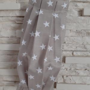 Gyermek textil maszk - halványbarna, csillagos, Maszk, Arcmaszk, Gyerek, Varrás, Meska