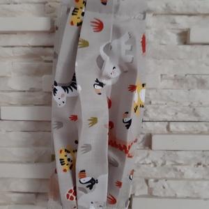 Gyermek textil maszk - halványbarna, szafaris, Maszk, Arcmaszk, Gyerek, Varrás, Meska
