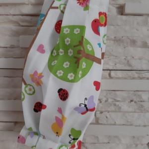 Gyermek textil maszk - fehér, vidám erdő, Maszk, Arcmaszk, Gyerek, Varrás, Meska