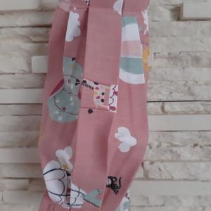 Gyermek textil maszk - pasztell sötétrózsaszín, hőlégballonos, Maszk, Arcmaszk, Gyerek, Varrás, Textil maszk gyerekeknek, ovis és iskolás méretekben :)\n\nÚj, gyerekmintás kollekció, több, mint 80 m..., Meska