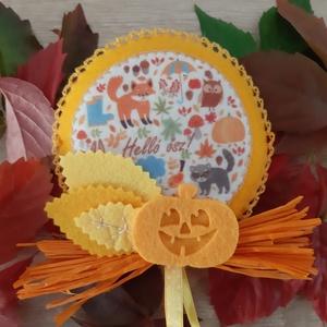 Őszi filc dekoráció - erdei állatkák, tökkel - Meska.hu