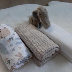 Textil pelus szett - nyuszkó és bagoly pajtik, natúr színvilágban - Meska.hu