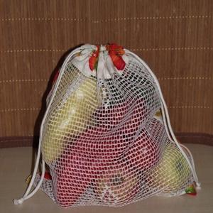 Sütőtökös textil zsák / öko zacskó, Táska, Táska, Divat & Szépség, Szatyor, NoWaste, Varrás, A műanyag zacskók kiváltására varrtam ezt a textil zsákot!\n\nMérete: 27 cm x 29 cm\n\nAnyaga: pamutvász..., Meska