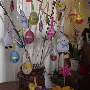 Vegyes tojások húsvéti barkadísz (014.) (Boglarka2012) - Meska.hu