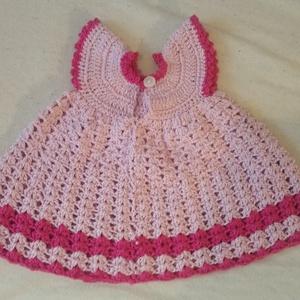 Kiskirálylány ruha, Gyerek & játék, Baba-mama kellék, Horgolás, Csodálatos kis ruhácska 0-3 hónapos kislányra.\nMéretei:\nFejkörfogat: 33-36 cm\nNyak körfogat:25 cm\nVá..., Meska