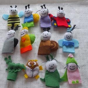 Bogyó és Babóca ujjbábok, Játék, Gyerek & játék, Báb, Plüssállat, rongyjáték, Gyereknap, Ünnepi dekoráció, Dekoráció, Otthon & lakás, Varrás, Szeretettel ajánlom figyelmetekbe a mese 12 ujjbáb figuráját. Ez egy garnitúra, egyben kapható, de v..., Meska