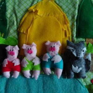 Hengeres mese: A 3 kismalac és a farkas, Szerepjáték, Játék & Gyerek, Varrás, Gurítsd ki a hengert és előbukkan a rét, a 3 kismalac háza a malackák, a farkas és a mese helyszínei..., Meska