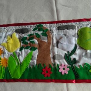 Hengeres mese: Három pillangó, Szerepjáték, Játék & Gyerek, Varrás, Kezdd el kigurítani a hengert és előbukkan a pillangók háza, majd a pillangók a réten, a 3 tulipán é..., Meska