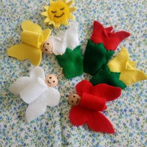 Ujjbábok: 3 pillangó mese, Báb készlet, Bábok, Játék & Gyerek, Varrás, A 2-3 éves gyermekek egyik kedvenc meséje a 3 pillangó története. Egyszerű szerkezetű, ismétlődő szö..., Meska