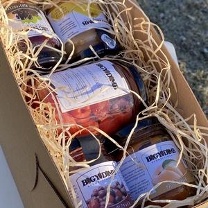 Kakukkfüves doboz, Élelmiszer, Lekvár, Élelmiszer előállítás, A doboz tartalma:\nLekvár 200 g x 4 db (birs, fekete ribiszke mandulával, kajszi, som)\nKakukkfüves so..., Meska