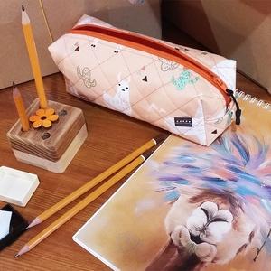 """Alpaka rajzcsomag - vidám összeállítás rajzolni szerető gyerekeknek, Játék & Gyerek, Készségfejlesztő & Logikai játék, Famegmunkálás, Mindenmás, Egyik kedvenc állatom a bohó alpaka, ezért választottam Őt kreatív rajzcsomagom \""""arcának\"""". Ezt a kis..., Meska"""