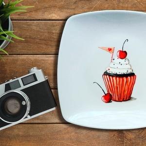 Desszertes tányér, Otthon & lakás, Festett tárgyak, Amit a Bohém Tányérokról tudni érdemes:\n\nAz egyedileg, kézzel festett Bohém Tányérok használata bizt..., Meska