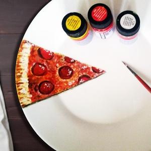 Pizzás tányér, Otthon & lakás, Festett tárgyak, Amit a Bohém Tányérokról tudni érdemes:\n\nAz egyedileg, kézzel festett Bohém Tányérok használata bizt..., Meska