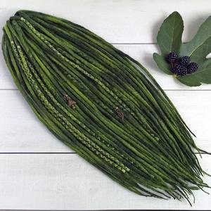 Gyapjú raszta szett, zöld raszta, felfonható raszta fesztiválra (bohofreelucy) - Meska.hu
