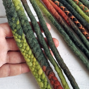 Ősz színekben gyapjú raszta szett (bohofreelucy) - Meska.hu