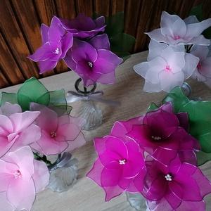 Rózsaszín vázás virágcsokrok - örökcsokor, örökvirág, asztaldísz, harisnyavirág, valentin, Otthon & Lakás, Dekoráció, Csokor & Virágdísz, Virágkötés, Mindenmás, A rózsaszín  különböző árnyalataival készített vázás virágokat ajánlom ballagás, születésnap, névnap..., Meska