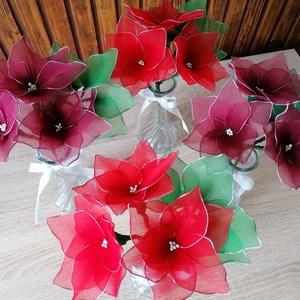 Piros és bordó vázás virágcsokrok - örökcsokor, örökvirág, asztaldísz, harisnyavirág, valentin, Otthon & Lakás, Dekoráció, Csokor & Virágdísz, Virágkötés, Mindenmás, Piros és bordó színnel készített vázás virágokat ajánlom ballagás, születésnap, névnap, Valentin-nap..., Meska