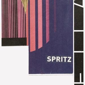 'Spritz' Egyedi kollázs, újrahasznosított papírból, Otthon & lakás, Dekoráció, Képzőművészet, Vegyes technika, Kollázsaimat egyedileg készítem, a legkülönbözőbb technikák alkalmazásával, főleg újságpapír, szóról..., Meska