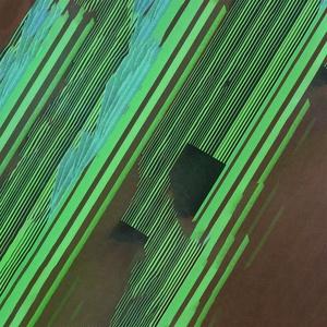 'Zöld sávok' grafika, print fotópapíron, Otthon & lakás, Dekoráció, Kép, Képzőművészet, Vegyes technika, A legkülönbözőbb technikák alkalmazásával, főleg újságpapír, szórólapok és egyéb kiadványok újrahasz..., Meska