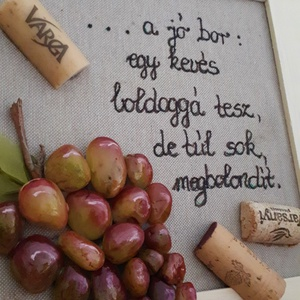 A jó bor ...szőlő kavicskép (boltocskam) - Meska.hu