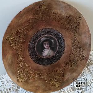 Romantikus tál, rusztikus, antik hatású - kínáló tálnak, lakás dekorálásra, de eküvői ajándéknak is kiváló (Bolyboly) - Meska.hu